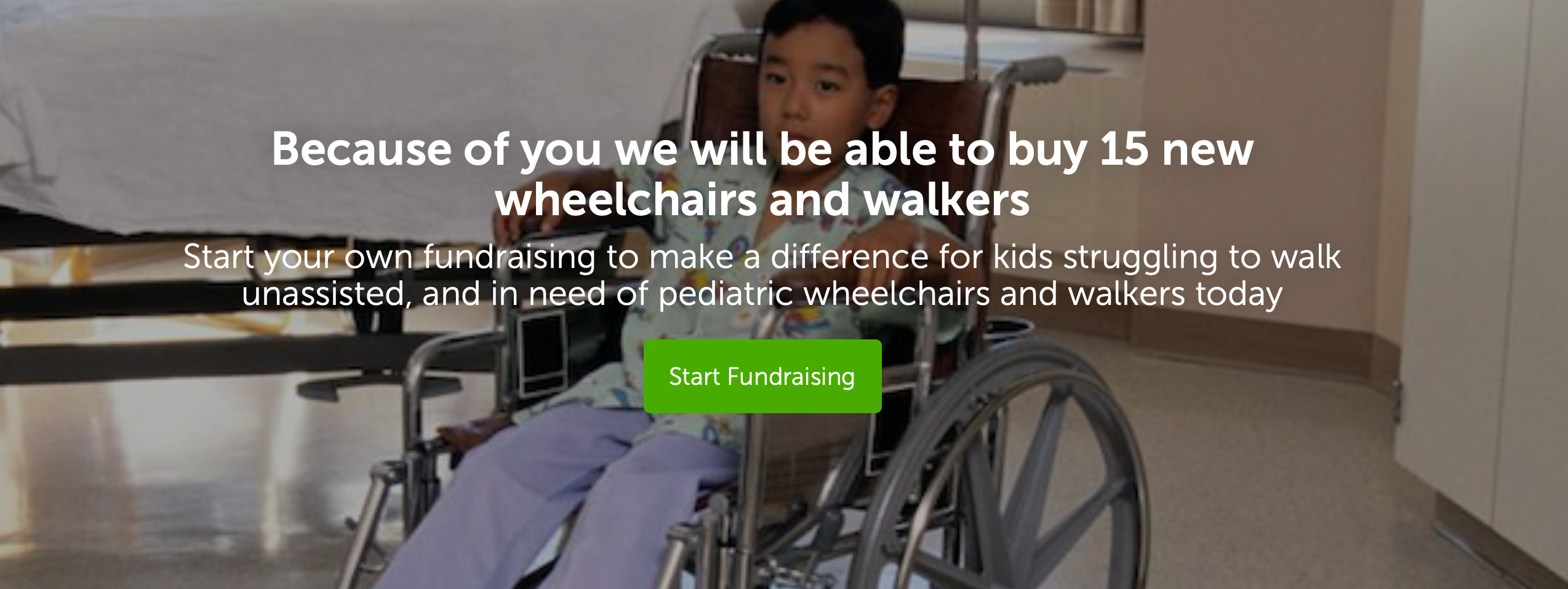 <b>HELP US RAISE MONEY TO BUY WHEELCHAIRS AND WALKERS FOR SICK KIDS</b>